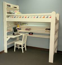 loft bed bunk bed all in one sleep study for college youth child