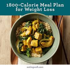 7 Day Diet Meal Plan To Lose Weight 1 800 Calories Eatingwell