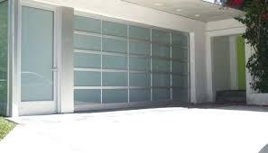 glass garage door contemporary