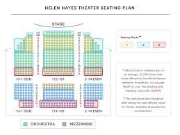 Colonial Theater Seating Chart Helen Hayes Theatre Seating Chart Lobby Hero Guide Debra