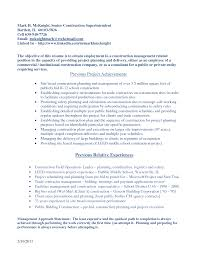 Resume Construction Company Resume
