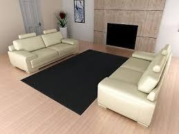 details about area rug carpet 5 x 7 ft black solid square rugs living room floor modern decor