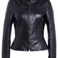 lady gaga rockstar black leather jacket for women