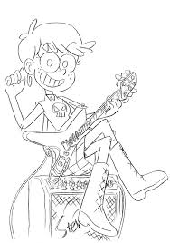 The Loud House Luna Coloring Pages Print Coloring