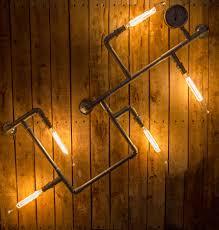 industrial look lighting. Second Light (NE) Ltd - Industrial Steel Steam Punk Pipe Wall/ceiling Look Lighting D