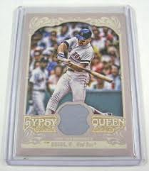 2012 Topps Gypsy Queen Wade Boggs Game Used Jersey Relic Card GQR-WB RED  SOX GU | eBay