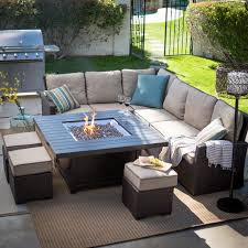 patio sofa sectional with gas fire pit table outdoor furniture set 2patio sofa sectional with gas