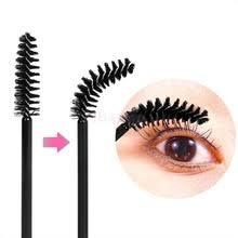bulk lot 200 pieces disposable eyelashes maa wands eye lash applicator makeup brushes set 4 colors