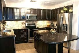 dark cabinets light granite dark granite countertops