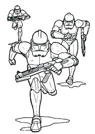 Star Wars Ships Coloring Sheets Pages The Clone Troopers Pursuing In