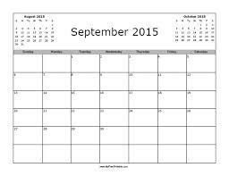 September 2015 Calendar Free Printable Myfreeprintable Com