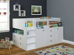 cabin bed with storage. Plain Storage Image Is Loading WhiteCosmosCabinBedMidsleeperwithStorageBy Intended Cabin Bed With Storage T