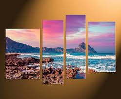 large 4 panel wall art