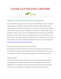 How To Make A Good Cover Letter For A Resume Make A Cover Letters Savebtsaco 11