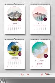Circle Calendar Template Creative Wall Calendar 2020 With Circle Placeholder Images Corporate Identity Template