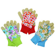 3 pairs womens gloves with leather