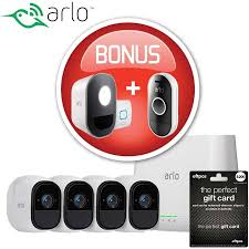 Arlo Red Light Arlo Pro 2 Vms4430p Wireless 4 Cameras Bonus Arlo Light