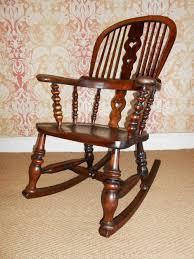 victorian high back windsor rocking chair