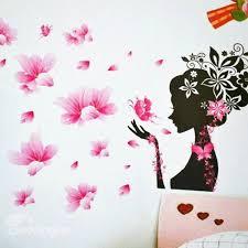 super beautiful romantic pink fairy wall stickers