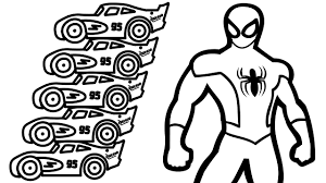 Small Picture Spiderman and Color Lightning Mcqueen Coloring Book Coloring Pages