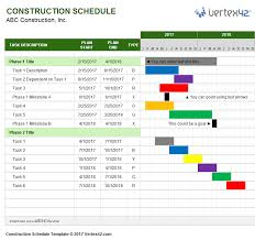 Project Timeline Gantt Chart Excel Template Download A Free Construction Schedule Template From Vertex42