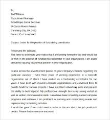 Fundraiser Cover Letter 7 Sample Example For Job 13 Download Free