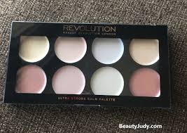 makeup revolution london ultra strobe balm palette review and swatches beautyjudy