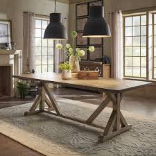 Paloma Rustic Reclaimed Wood Rectangular Trestle Farm Table by iNSPIRE Q  Artisan | Overstock.com