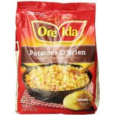 ore ida potatoes o brien with onions peppers 28 oz frozen