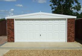 hanson garage doorRoyale Range Apex Concrete Double Garage  Megasheds North Wales