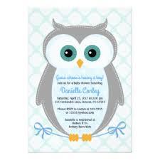 Owl Baby Boy Shower Invitations U0026 Announcements  ZazzleOwl Baby Shower Invitations For Boy