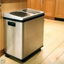 13 gallon kitchen trash can white kitchen stainless steel trash can gallon plus stainless steel kitchen