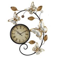 maybe for main kitchen contemporary silver gold butterfly metal wall art with clock amazon uk kitchen home on metal wall art for kitchen uk with maybe for main kitchen contemporary silver gold butterfly metal