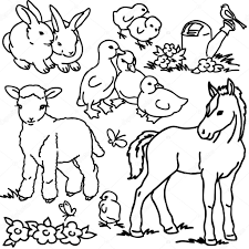 cartoon farm s vegetables flower garden tools fruits and decoration elements for kid drawing photo by dobrynina art