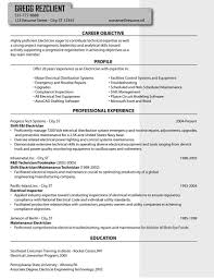 sample resume for electrical technician electrician resume