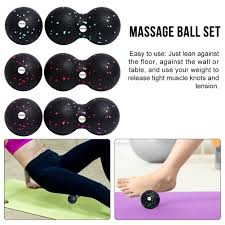 <b>Peanut Ball Fascia</b> Ball <b>Set</b> Training Deep Tissue Massage Ball Kit ...