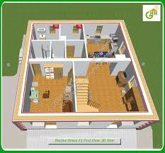 green passive solar house 3 section first floor 3d view passive solar home plans