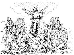 Small Picture Ascension Coloring Pages