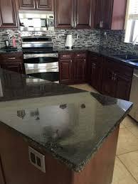 dark countertops with dark cabinets