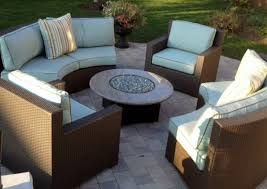 fire pit furniture. Plain Pit Granite Oriflamme Gas Fire Pit Furniture Set  Antique Beige W Cocoa Welt  Cushions With C