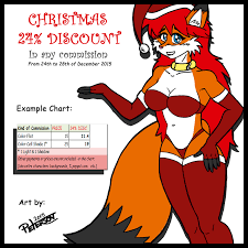 Christmas 24 Discount Commissions Color By Peterson Fur