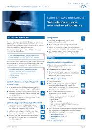 EN - Häusliche Isolierung bei bestätigter COVID-19 Erkrankung (30.11.2020)