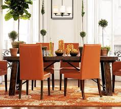 orange living room furniture. Extraordinary Interior Design With Inexpensive Vintage Furniture : Minimalist Image Of Dining Room Decoration Using Small Orange Living