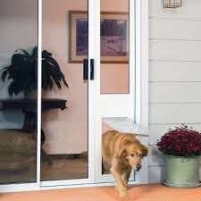 exterior back door with dog door. dog door for sliding door. the thermo panel iiie size large. freedom your exterior back with