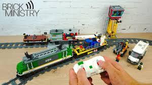 [Обзор] <b>LEGO</b> 60198 Грузовой Поезд - YouTube