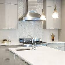 Interior Designs For Kitchens Amazing AyA Kitchens Add Dimension To A Monochromatic Kitchen By Using