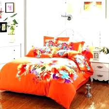 light blue orange duvet cover and bedding sets fl comforter
