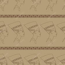 эскиз нефертити нефертити и орнамент векторное изображение