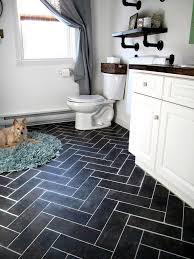 diy herringbone floor using l n stick luxury vinyl tile