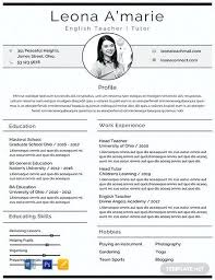 English Curriculum Vitae Resume Template Teacher Free English Cv Templates Curriculum